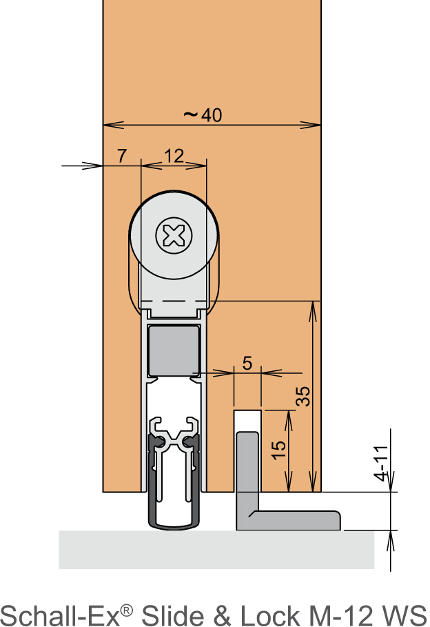 Shall Ex Slide για συρόμενες πόρτες